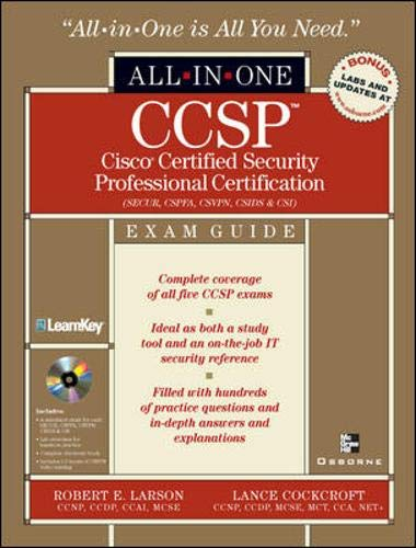 9780072226911: CCSP: Cisco Certified Security Professional Certification All-in-One Exam Guide (Exams SECUR,CSPFA, CSVPN, CSIDS, and CSI)