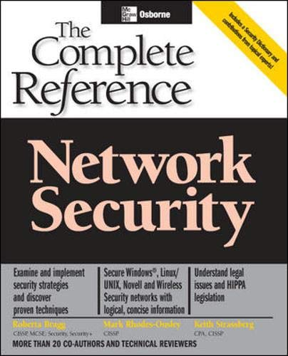 9780072226973: Network Security: The Complete Reference (Osborne Complete Reference Series)