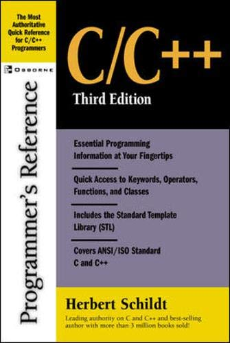 9780072227222: C/C++ Programmer's Reference, Third Edition