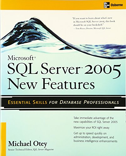 9780072227765: Microsoft SQL Server 2005 New Features