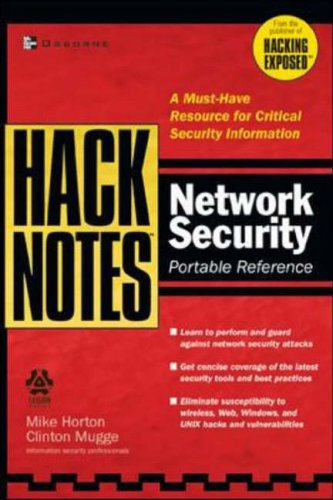 9780072227833: HackNotes Network Security Portable Reference
