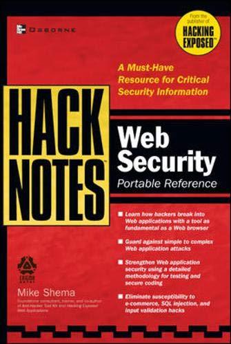 9780072227840: HackNotes(tm) Web Security Pocket Reference