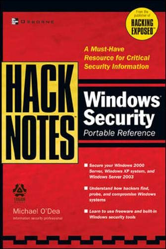 9780072227857: HackNotes Windows Security Portable Reference