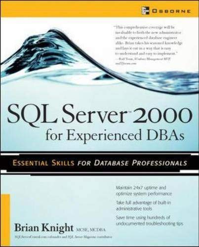 9780072227888: SQL Server 2000 for Experienced DBAs