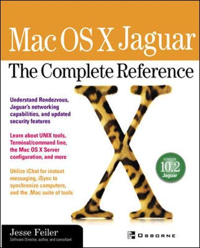 9780072227895: Mac OS X Jaguar: The Complete Reference