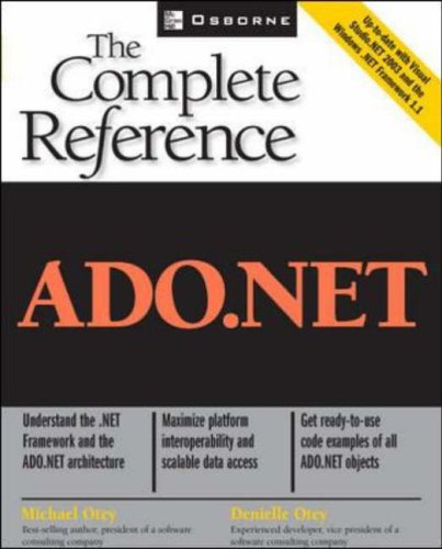 9780072228984: ADO.NET: The Complete Reference