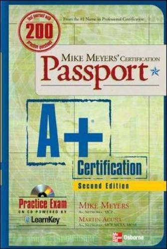 9780072229141: Mike Meyers' A+ Certification Passport, Second Edition (Passport)