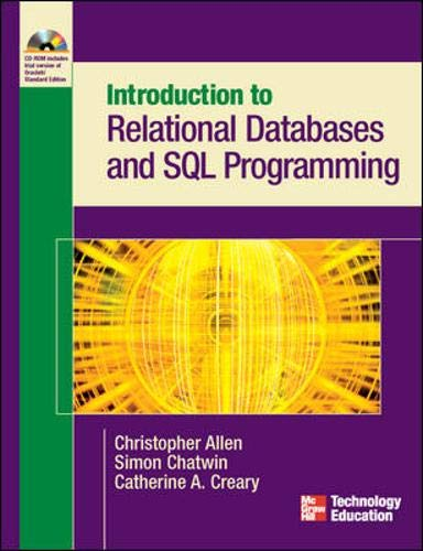 9780072229240: Introduction to Relational Databases