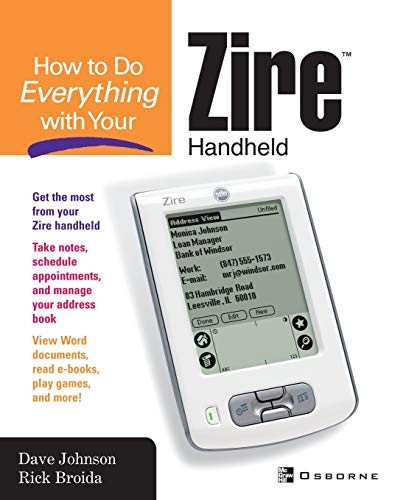 9780072229301: How to do Everything with Your Zire Handheld