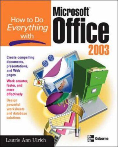 9780072229370: How to Do Everything with Microsoft Office 2003 (How to Do Everything)