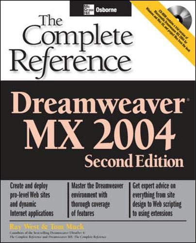 9780072229431: Dreamweaver MX 2004: The Complete Reference, Second Edition (Osborne Complete Reference Series)