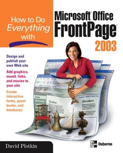 9780072229738: How to Do Everything with Microsoft Office FrontPage 2003 (How to Do Everything)