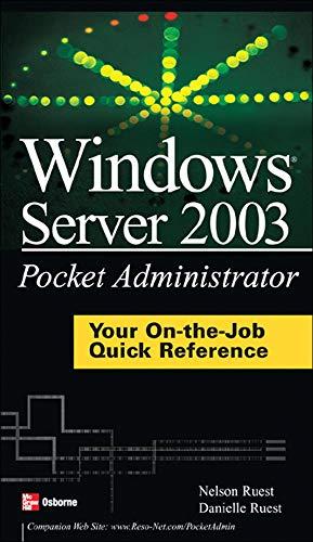 9780072229776: Windows Server 2003 Pocket Administrator