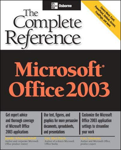 9780072229950: Microsoft Office 2003: The Complete Reference (Osborne Complete Reference Series)