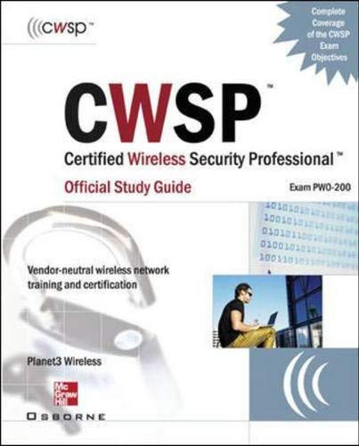 9780072230123: CWSP Certified Wireless Security Professional: Official Study Guide (exam PWO-200)