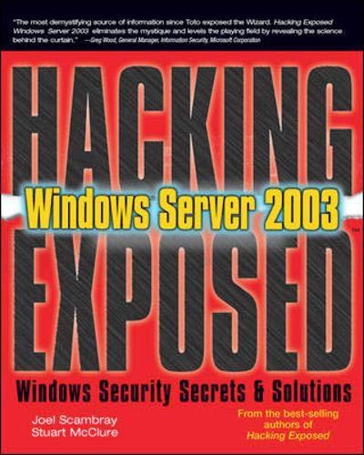 9780072230611: Hacking Exposed Windows Server 2003