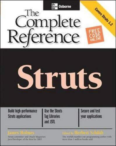 9780072231311: Struts: The Complete Reference