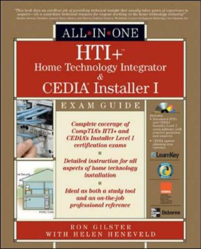 9780072231328: HTI+(TM) Home Technology Integration and CEDIA� Installer I All-in-One Exam Guide