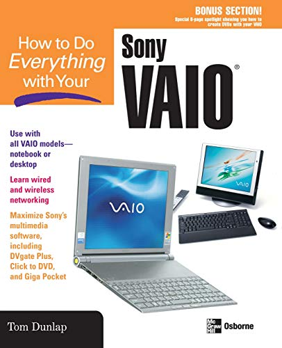 9780072231373: How to Do Everything with Your Sony Vaio (How to Do Everything)