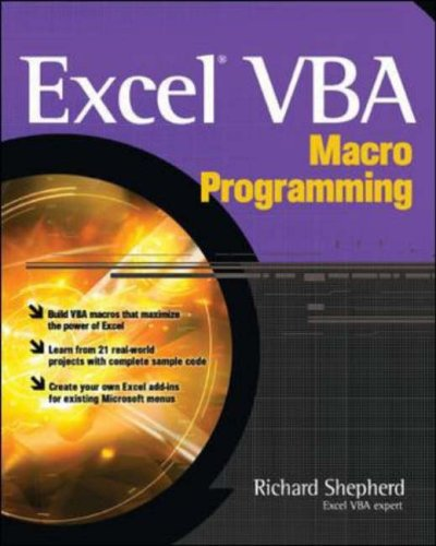 9780072231441: Excel VBA Macro Programming