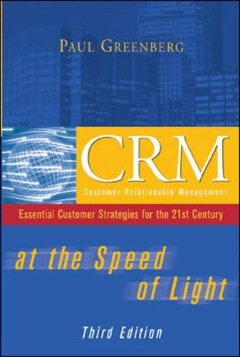 9780072231731: CRM at the Speed of Light, Third Edition: Essential Customer Strategies for the 21st Century
