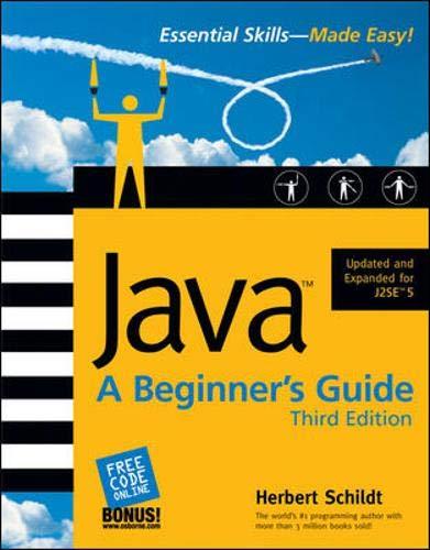 9780072231892: Java: A Beginner's Guide, Third Edition (Beginner's Guide)