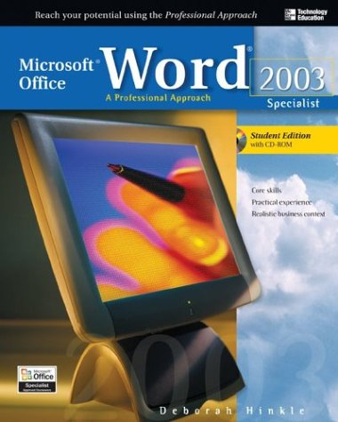 9780072232127: Microsoft Office Word 2003: A Professional Approach, Specialist Student Edition w/ CD-ROM