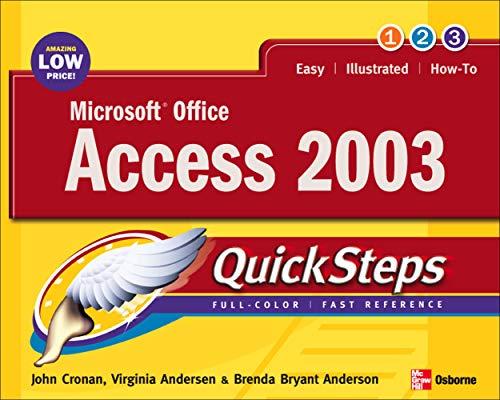 Microsoft Office Access 2003 QuickSteps: John Cronan, Virginia