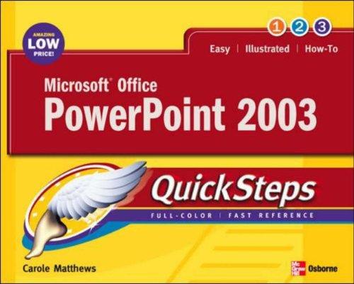 9780072232301: Microsoft Office PowerPoint 2003 QuickSteps