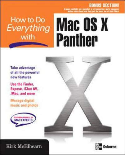 9780072253559: How to Do Everything with Mac OS X Panther