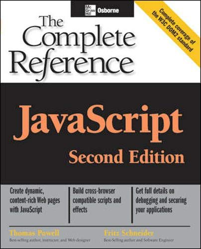 9780072253573: JavaScript: The Complete Reference, 2nd edition