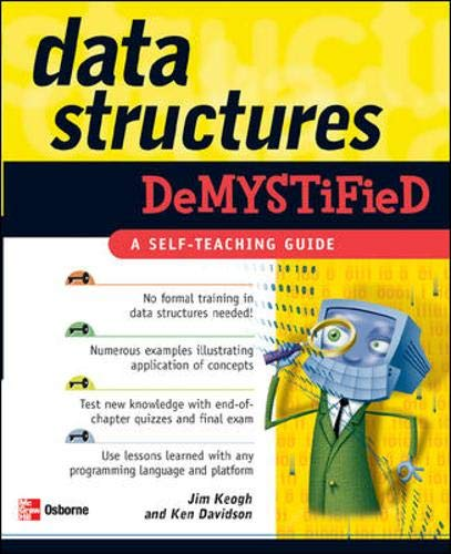 9780072253597: Data Structures Demystified: A Self-teaching Guide