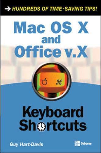 9780072255010: Mac OS X and Office v.X Keyboard Shortcuts