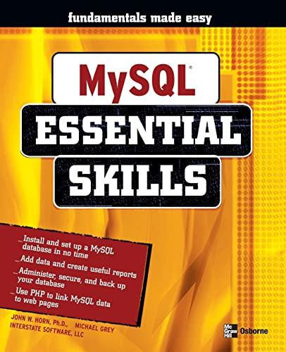 9780072255133: MySQL: Essential Skills