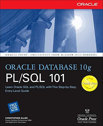 9780072255409: Oracle Database 10g PL/SQL 101 (Oracle Press)