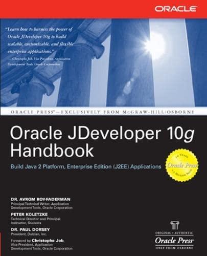 9780072255836: Oracle JDeveloper 10g Handbook