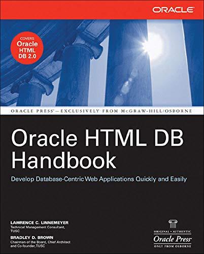 9780072257687: Oracle HTML DB Handbook (Oracle Press)
