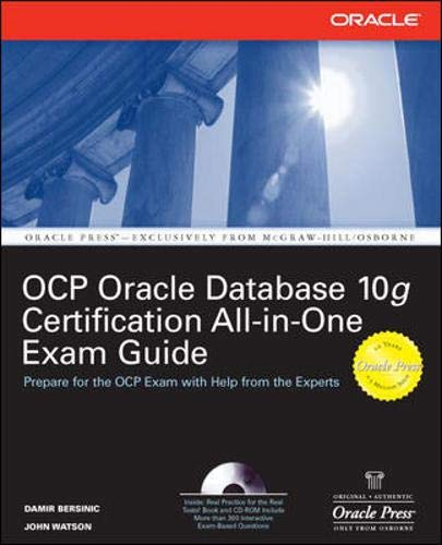 9780072257908: Oracle Database 10g OCP Certification All-In-One Exam Guide (Oracle Database 10g Handbook)