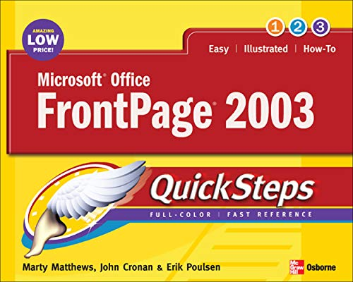 9780072258745: Microsoft Office FrontPage 2003 QuickSteps