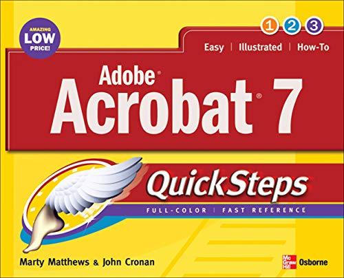 9780072260328: Adobe Acrobat 7.0 QuickSteps