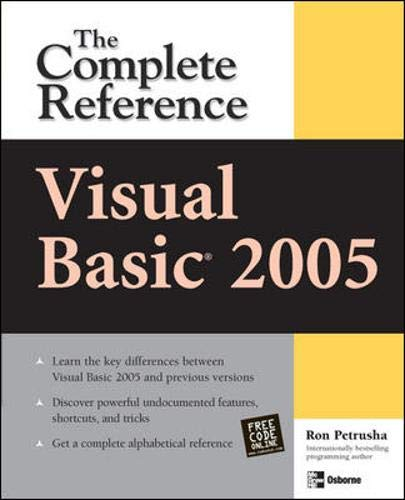 9780072260335: Visual Basic 2005: The Complete Reference (Visual Basic: The Complete Reference)
