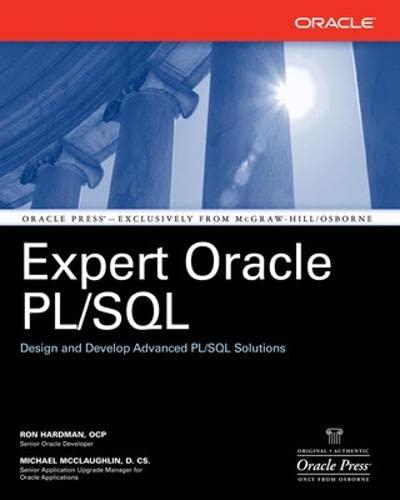 9780072261943: Expert Oracle PL/SQL (Oracle Press)
