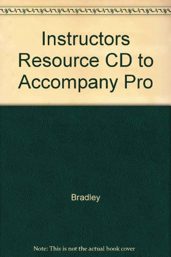9780072262162: Instructors Resource CD to Accompany Pro