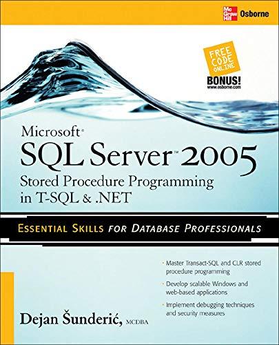 9780072262285: Microsoft SQL Server 2005 Stored Procedure Programming in T-SQL & .NET