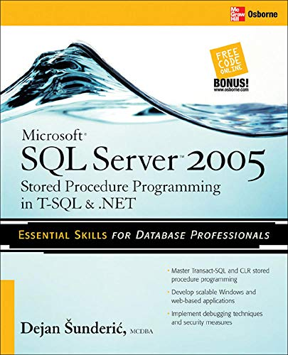 9780072262285: Microsoft SQL Server 2005 Stored Procedure Programming in T-SQL & .NET