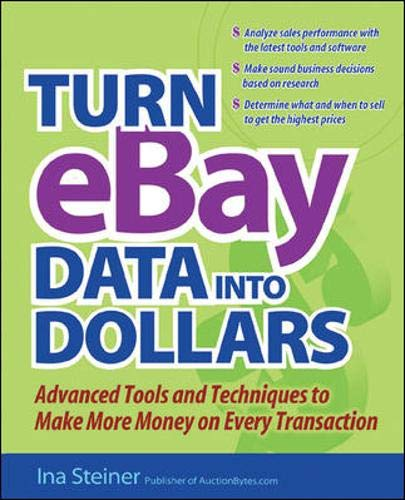 9780072262360: Turn eBay Data into Dollars