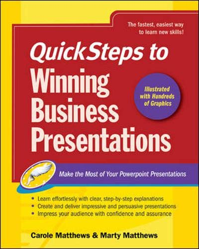 9780072262636: QuickSteps to Winning Business Presentations: Make the Most of Your Powerpoint Presentations