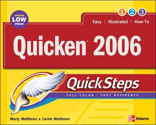 9780072262667: Quicken 2006 QuickSteps