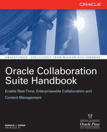 9780072263008: Oracle Collaboration Suite Handbook (Oracle Press)