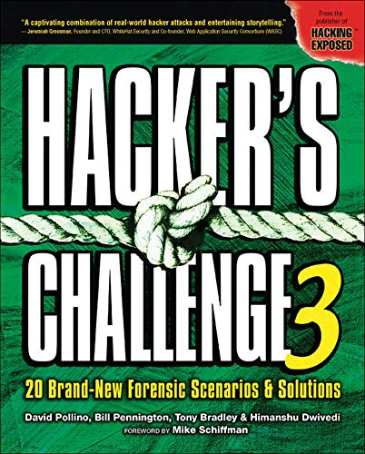 9780072263046: Hacker's Challenge 3: 20 Brand New Forensic Scenarios & Solutions (v. 3)